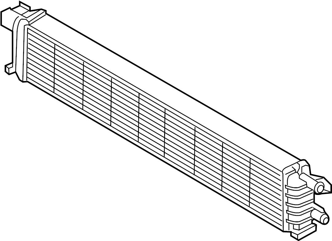 2015 audi q5 auxiliary radiator  intercooler  liter  lower