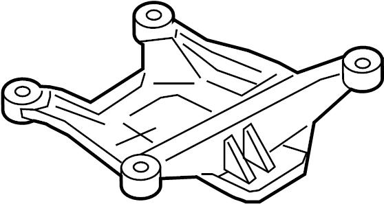 audi a4 automatic transmission mount bracket  transmission