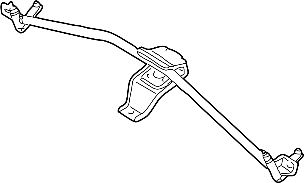 audi a4 bracket  windshield wiper linkage  wiper frame