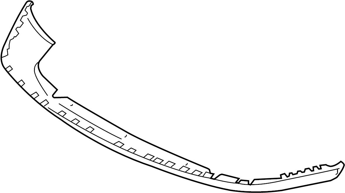 8e0807110bgru - spoiler  front  lower   painted  body  bumper