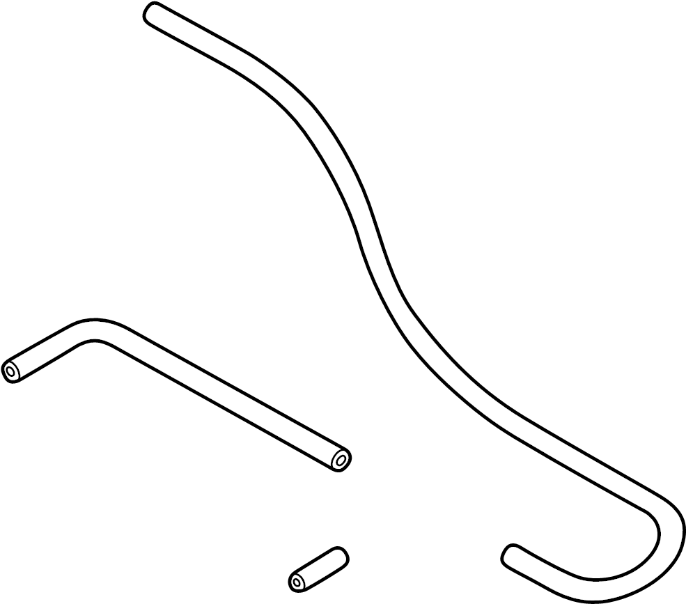 2009 audi a4 cabriolet convertible tubing  washer hose