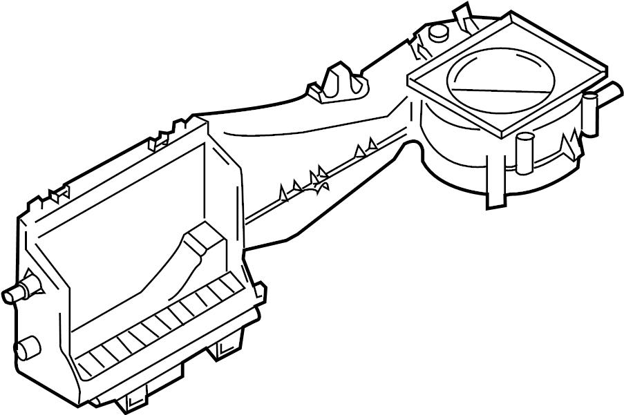 2002 audi a4 a  c evaporator core case  air conditioning  a