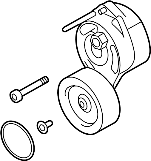 2008 audi a4 accessory drive belt tensioner assembly