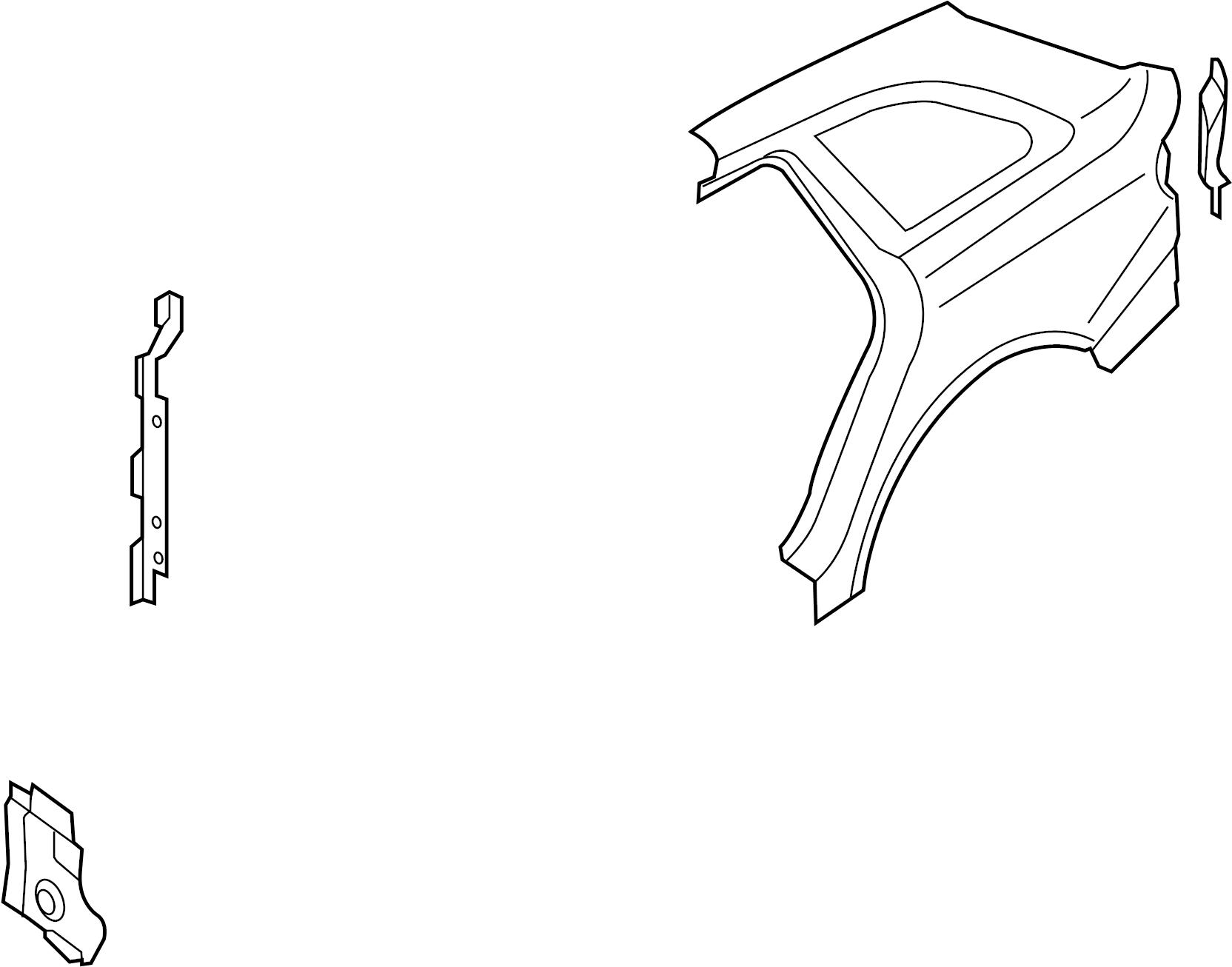 8k5810076b - uniside  panel  sedan  aperture
