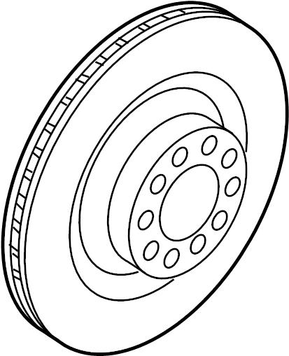2016 audi q5 brake disc  rotor - 4h0615601q