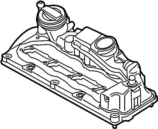 03l103469 - engine valve cover  wagon  liter  hole