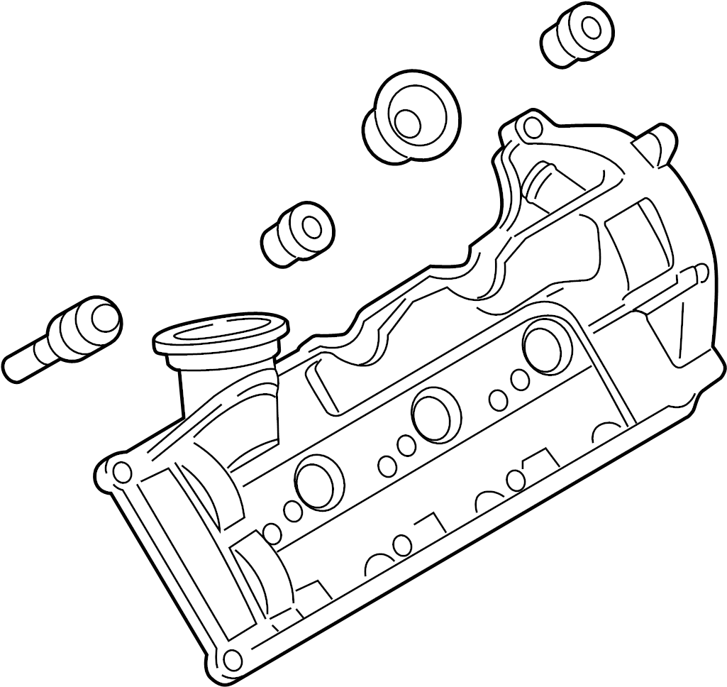 059103470as - engine valve cover  rightdiesel