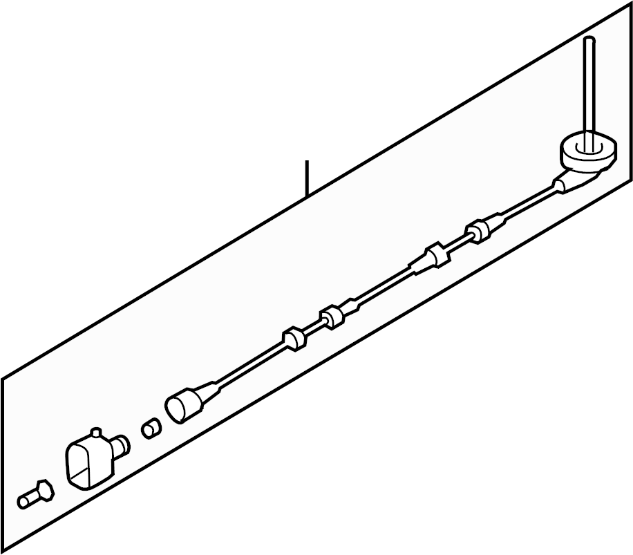 2015 Audi Q3 Sensor Harness Abs Wire Fwd Fwd W O