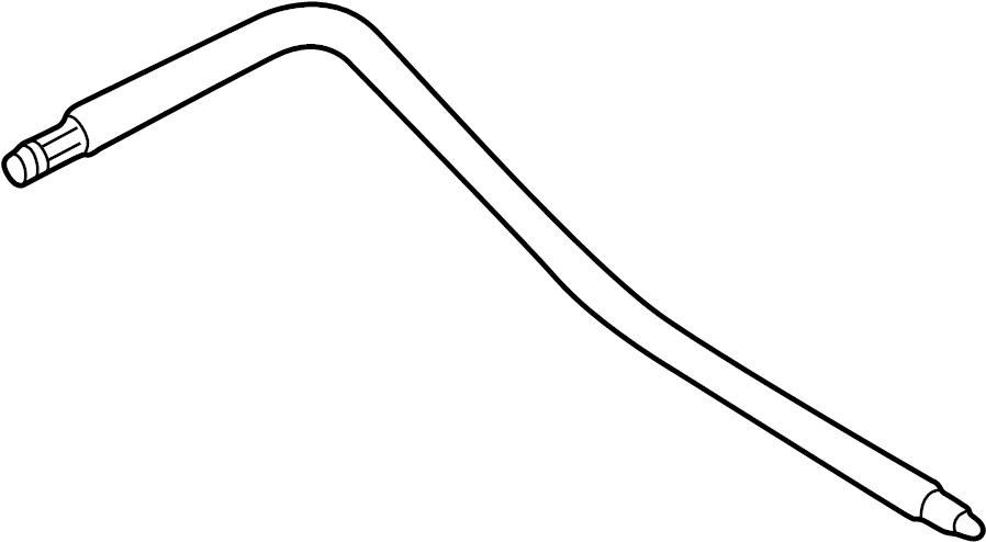 audi a6 flexible  hose  lower pressure hose  power