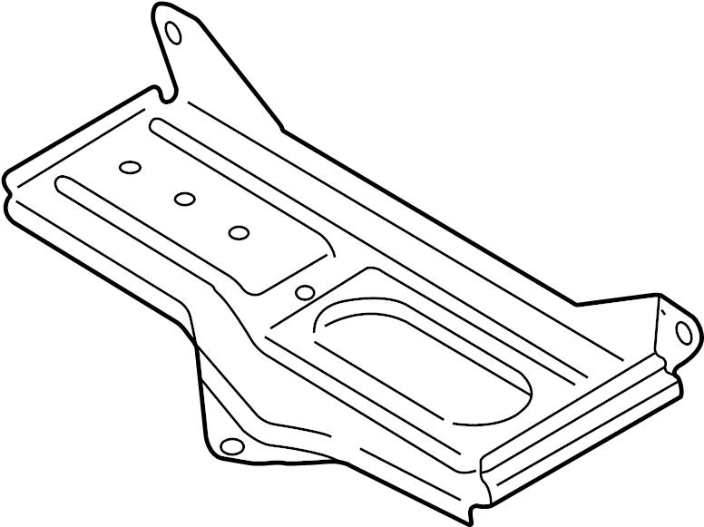 1998 audi a4 battery holder  battery tray  bracket  new