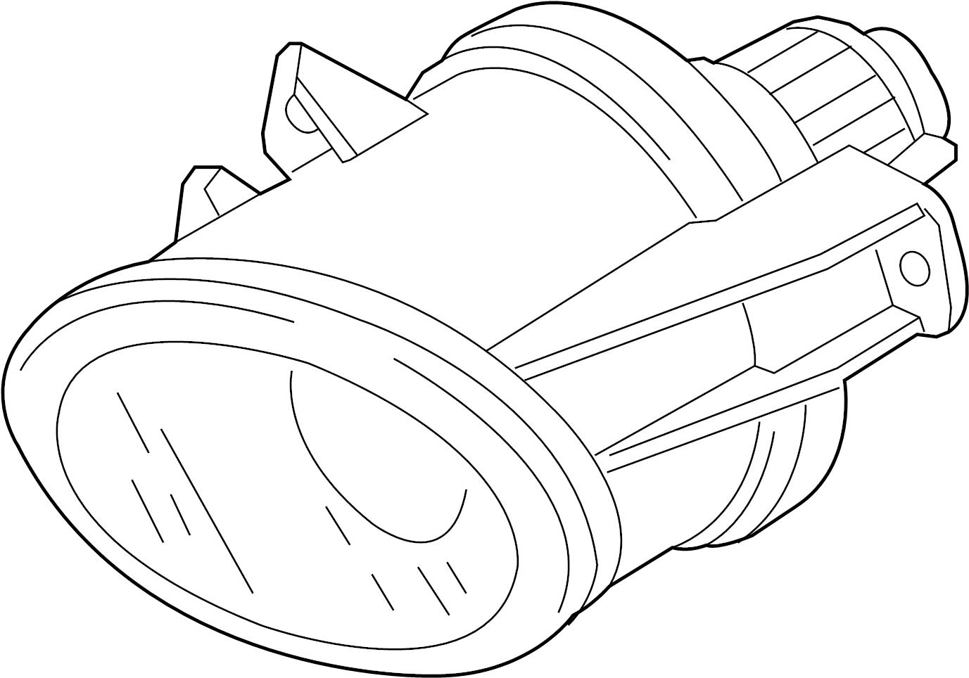 2009 audi s5 fog  housing  lamp  light  lens and amplifier