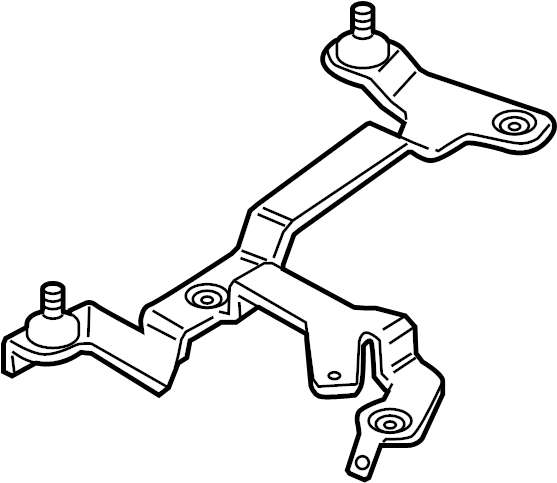 audi a3 mount bracket  retainer plate  3 2 liter  3 6