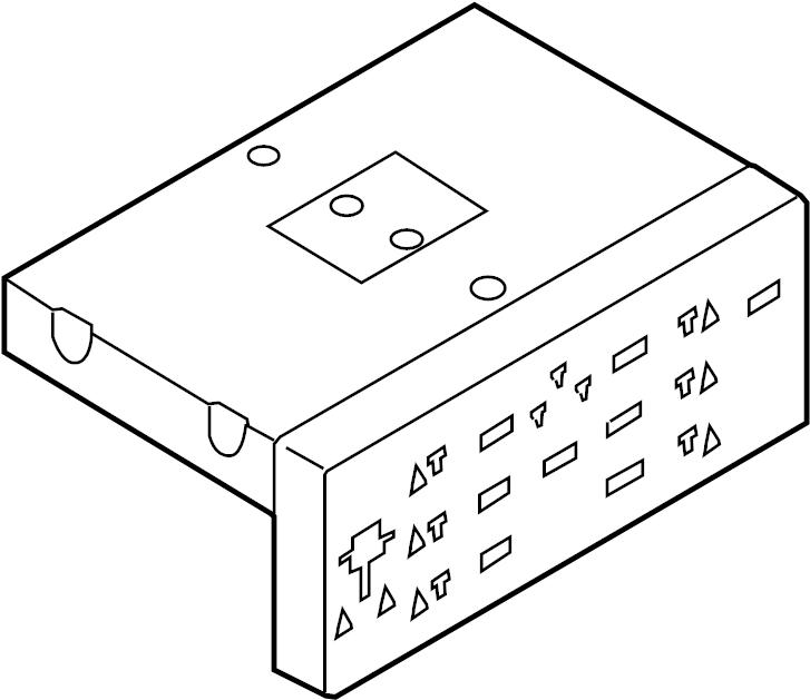 7n0907530akz00 - diagnostic test connector  passenger  compartment  module