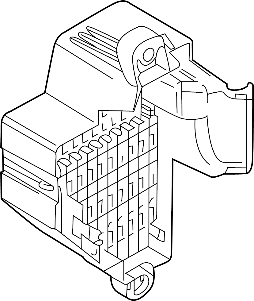 1k0937125d - fuse  relay  and  plate  box  center  a component that houses fuses