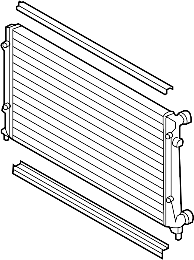 1k0198251cs - radiator assembly  650 x 454mm  to 05  31  2010  to 11  01  2009