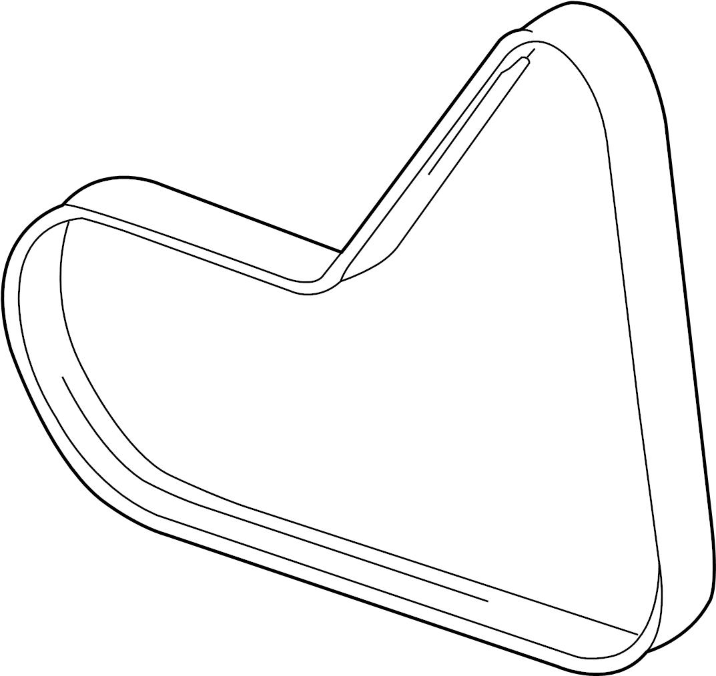 2012 audi ac belt  ribbedbelt  serpentine belt  liter  wagon  pulleys - 07k145933e
