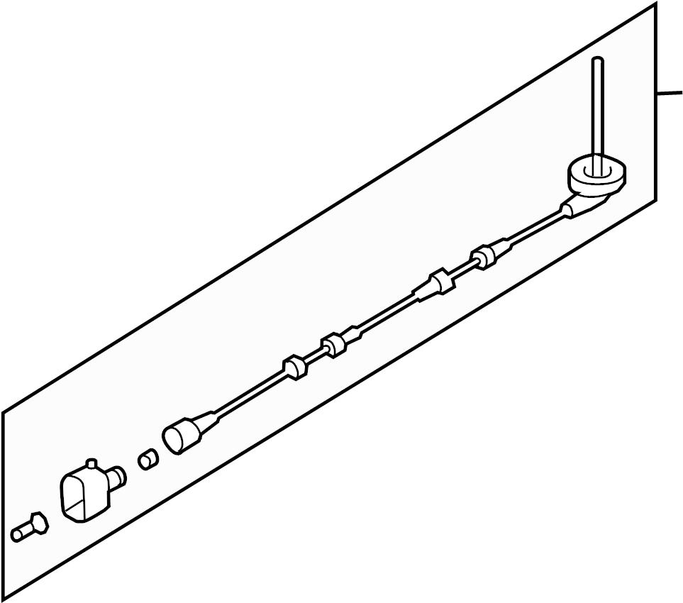 audi a3 abs wheel speed sensor wiring harness  w  awd  w  o awd  w  o awd  260x12mm