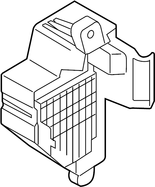 audi tt fuse box  passenger  compartment  wagon - 1k1941824